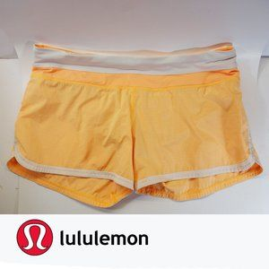 EUC, Lululemon Groovy Run Short Orange Pop, 12